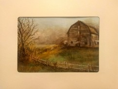 Barn in the Mist Card