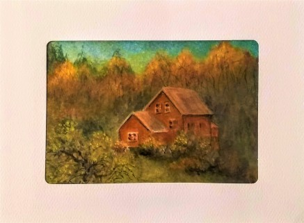 Golden Cabin Card