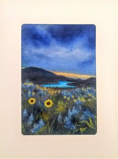 Blue Sky over Sunflowers Card