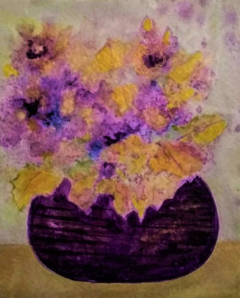 Purple Vase Card
